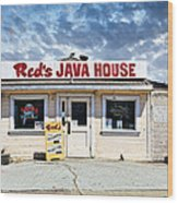 Red's Java House Wood Print by Tim Fleming