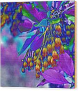 Redvien Flowers 2 Wood Print