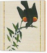 Redwing Blackbird Vertical Wood Print