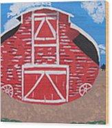 Redwood Farm Barn Wood Print