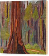 Redwood Giant Wood Print