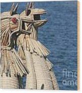 Reed Boat Lake Titicaca Wood Print