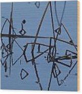 Reed Reflection Wood Print
