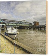 Reedham Swing Bridge  Wood Print