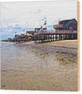 Reeds Beach Panorama - New Jersey Wood Print