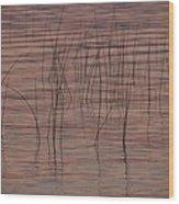 Reeds Wood Print