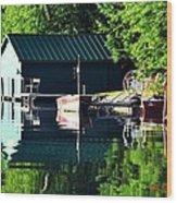 Reflecting Lake Wood Print