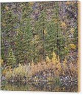 Reflect Autumn Wood Print