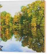 Reflected Autumn Glory Wood Print