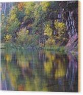 Reflected Fall Wood Print