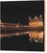 Reflected Golden Temple Wood Print