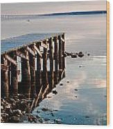 Reflected Pier Wood Print