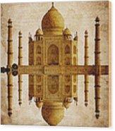 Reflected Taj Mahal Wood Print