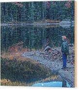 Reflecting On Fall Foliage Reflection Wood Print