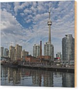 Reflecting On Toronto And Harbourfront  Wood Print