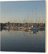 Reflecting On Yachts And Sailboats Wood Print