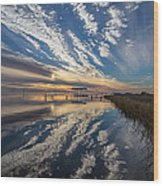 Reflecting Sunset Wood Print