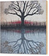 Reflecting Tree Wood Print by Janet King