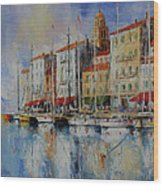 Reflection  -  St.tropez - France Wood Print