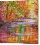 Reflection Wood Print by Ann Marie Bone