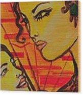 Reflection At Dawn Wood Print