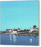 Reflections At Sandycove Wood Print