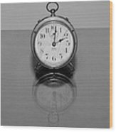 Reflection Clock Wood Print