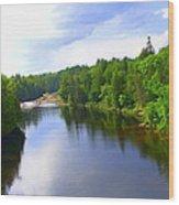 Reflection In Beaupre Quebec Wood Print