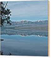 Reflection In Lake Mcdonald In Glacier National Park-montana Wood Print
