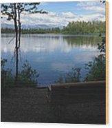 Reflection Lake Trail Wood Print