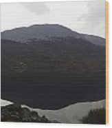 Reflection Of Hills In A Loch In The Scottish Highlands Wood Print