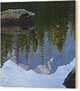 Reflection Of Longs Peak Wood Print