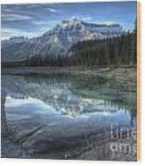 Reflection Of Mount Amery At Graveyard Flats Wood Print by Brian Stamm