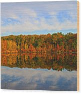 Reflection Of The Fall Wood Print