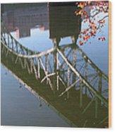 Reflection Of The Gay Street Bridge Wood Print