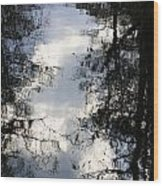Reflection On Sweet Water Strand Wood Print