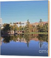 Reflection Pond Wood Print by Kathleen Struckle