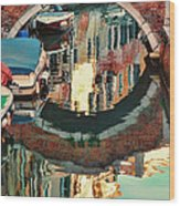 Reflection-venice Italy Wood Print