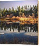 Reflections At Grace Lake Wood Print