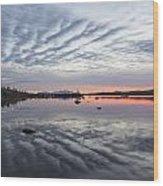 Reflections At Puerto Natales Wood Print
