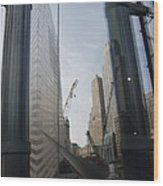 Reflections At The 9/11 Museum Wood Print