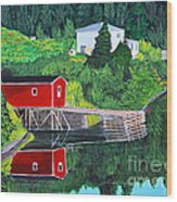 Reflections Wood Print by Barbara Griffin