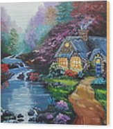 Reflections Cottage Wood Print