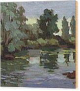 Reflections Duwamish River Wood Print