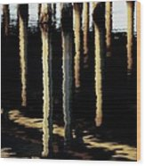 Reflections In Ocean Wood Print