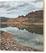 Reflections In The Blue Mesa Wood Print