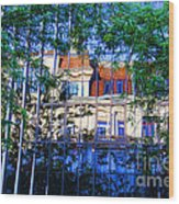 Reflections In The City Wood Print
