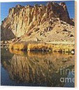 Reflections In The Crooked River Wood Print