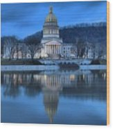 Reflections In The Kanawha River Wood Print
