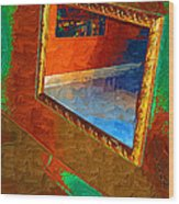 Reflections In The Mirror Wood Print by Jonathan Steward
